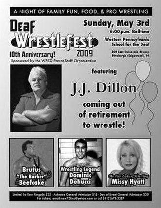 Deaf Wrestlefest - Event poster for the 2009 edition of Deaf Wrestlefest