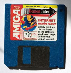 Demon Internet - A setup floppy for the Amiga OS for April 1995.