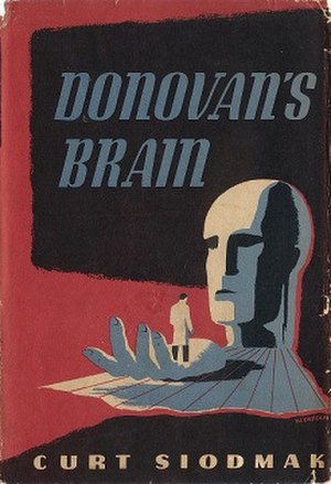 Donovan's Brain - Cover of the first edition, published by Knopf. Cover art by W. Deffaa.