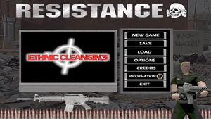 Ethnic Cleansing (video game) - Image: EC Title Screen