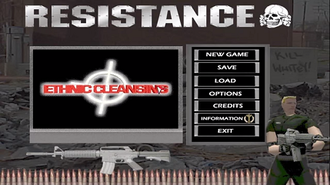 Ethnic Cleansing (video game) - Title screen