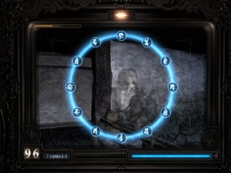Fatal Frame - A battle with a hostile ghost from the original game. Aside from aesthetic variations, the gameplay has remained roughly the same throughout the series.