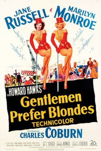 Gentlemen Prefer Blondes (1953 film) - Theatrical release poster