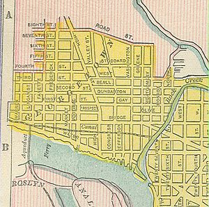 Streets and highways of Washington, D.C. - Map of Georgetown from 1899, showing old street names