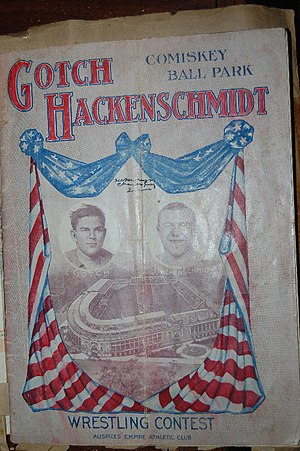 George Hackenschmidt - Program from Hackenschmidt vs. Gotch on 4 September 1911