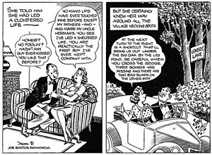 Panel (comics) - Jimmy Hatlo's They'll Do It Every Time was often drawn in the two-panel format as seen in this 1943 example.