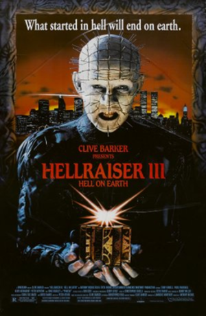 Hellraiser III: Hell on Earth - Theatrical release poster