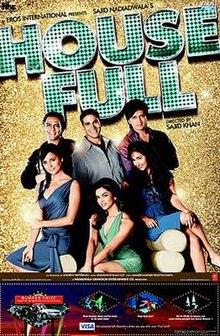 HouseFull (2010) SL DM - Akshay Kumar, Deepika Padukone, Lara Dutta, Jiah Khan, Arjun Rampal, Ritesh Deshmukh, Boman Irani, Randhir Kapoor, Chunky Pandey, Lillete Dubey, Malaika Arora, Pete Morgan
