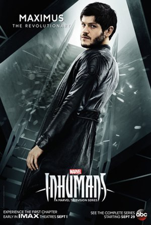 Maximus (comics) - Character poster of Iwan Rheon as Maximus for the television series, Inhumans.