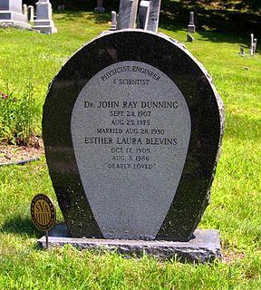 John R. Dunning American physicist