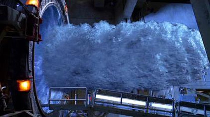 The energy vortex on the StarGate television series (Wikipedia photo)