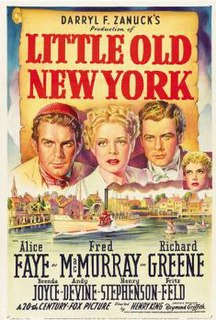 <i>Little Old New York</i> 1940 film by Henry King