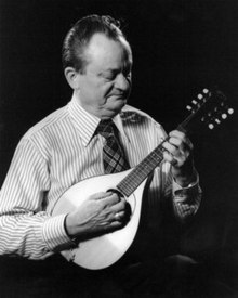 Mel Bay playing mandolin, about 1963, used in his book Fun With the Mandolin.