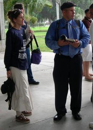 Micah Armstrong - Micah Armstrong (right), with his wife Elizabeth (left), at Florida Atlantic University in January 2007.
