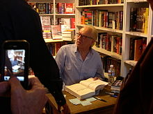 Michael Feeney Callan on Robert Reford Book Tour, signing at The King's English Bookshop, Salt Lake City, June 21 2011.jpeg