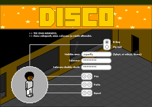 Habbo - A screenshot of Mobiles Disco game