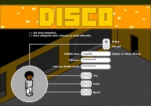 Habbo - A screenshot of Mobiles Disco game