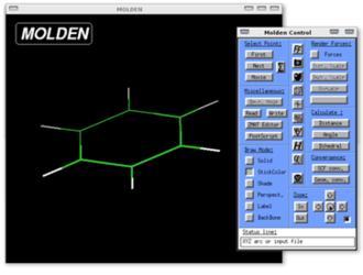 Molden - Image: Molden Screenshot