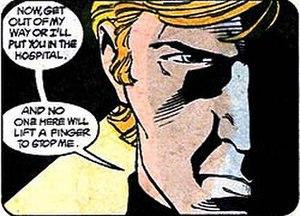 Nemesis (DC Comics) - Nemesis threatens Amanda Waller.