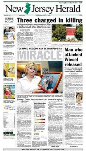 New Jersey Herald - Image: Njh 08 19 2008