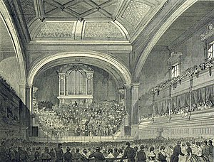 Philharmonic Hall, Liverpool - Interior of the first hall, 1849