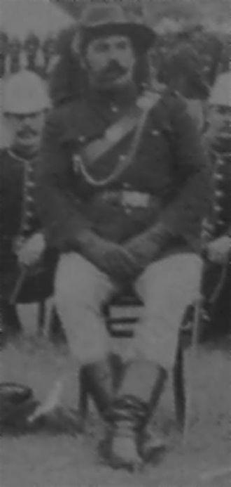 Newton Moore - Captain Newton James Moore, Bunbury Rifle Volunteers, 1900