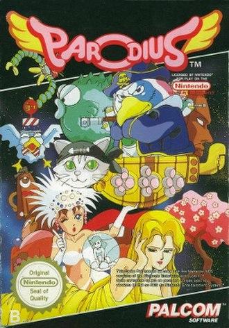 Parodius! From Myth to Laughter - European NES box art
