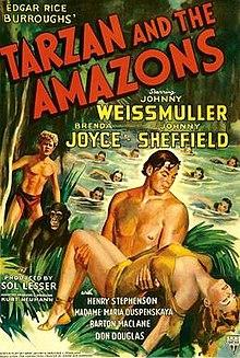 Afiŝo - Tarzan kaj la Amazono 01.jpg