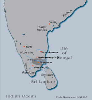 Later Cholas - Chola kingdom in c. 1325 C. E.