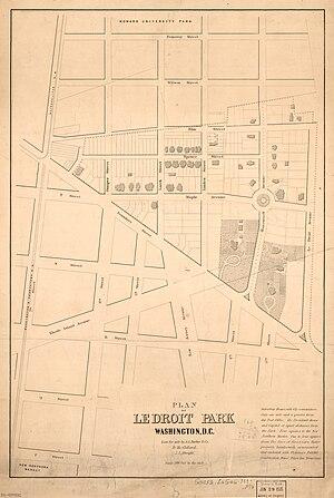 Amzi L. Barber - 1880 map of LeDroit Park