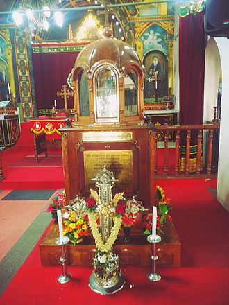 St. George Orthodox Church Puthuppally Pally - Relics of St. George