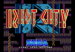 Title screen of Riot City.