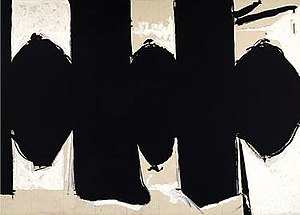 Color Field - Robert Motherwell, Elegy to the Spanish Republic No. 110, 1971. A pioneer of both Abstract Expressionism and Color Field painting, Robert Motherwell's Elegy to The Spanish Republic series embodies both tendencies.