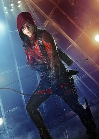 Roy Harper (comics) - Colton Haynes as Roy Harper in costume as Arsenal in The CW TV series Arrow