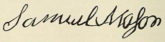Samuel Mason - Image: Samuel Mason Court Signature