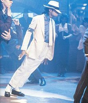"Smooth Criminal - Jackson performs an anti-gravity lean in the ""Smooth Criminal"" music video."