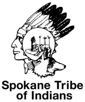 Spokane people - Image: Spokane Tribe Logo BW