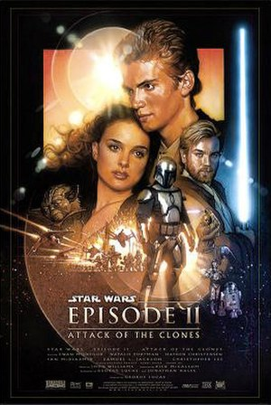 Star Wars: Episode II – Attack of the Clones - Theatrical release poster by Drew Struzan