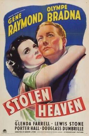 Stolen Heaven (1938 film) - Theatrical release poster