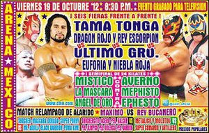 CMLL Super Viernes (October 2012) - Promotional poster for the October 19 Super Viernes event