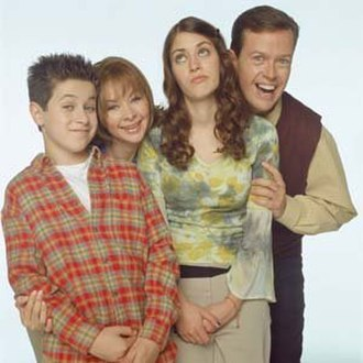 The Pitts - The cast of The Pitts (from left to right), David Henrie as Petey, Kellie Waymire as Liz , Lizzy Caplan as Faith and Dylan Baker as Bob.