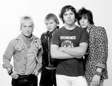 The Exploding Hearts. Left to right: Adam Cox, Jeremy Gage, Matt Fitzgerald, Terry Six