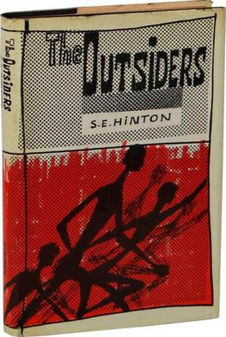 Young adult fiction - Front cover of The Outsiders by S.E. Hinton