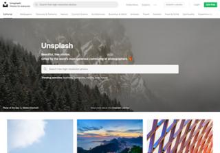 Unsplash copyright-free stock photography website