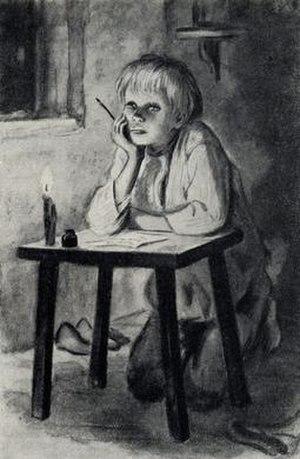 Vanka (short story) - 1953 illustration by Tatyana Shishmaryova