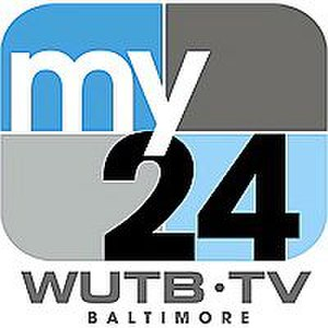WUTB - WUTB's logo as My24 from September 2006 to June 2013; after Sinclair took control of the station, its on-air brand was changed to MyTV Baltimore.