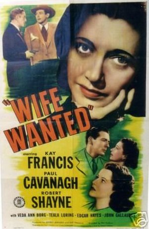 Wife Wanted (1946 film) - Theatrical release poster