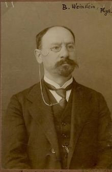 1910 photo of German physicist Max Bernhard Weinstein.jpg