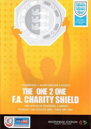 2001 FA Charity Shield - The match programme cover