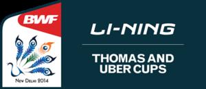 2014 Thomas & Uber Cup - Image: 2014 Thomas Uber Cup logo